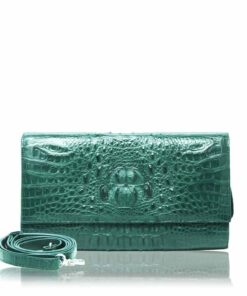 LUANA, Crocodile Leather Clutch Bag