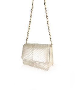 BARZAAR Pearl Limited Cobra Leather Clutch Bag