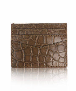 Crocodile Cardholder, Matte Brown