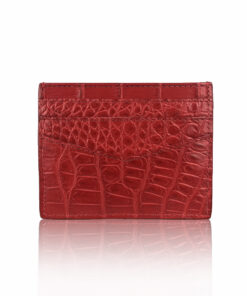 Crocodile Cardholder, Matte Red