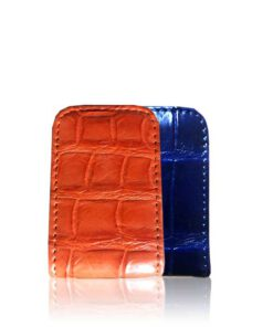 Crocodile Leather Money Clip
