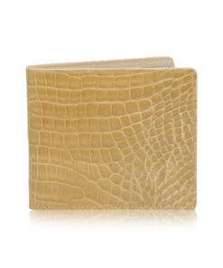 Crocodile Leather Wallet , Beige