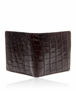Crocodile Belly Leather Wallet , Brown