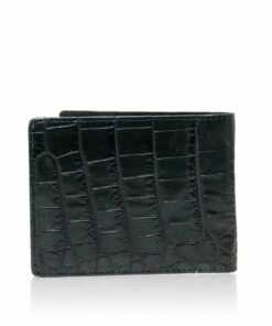 Crocodile Belly Leather Wallet , Dark Green