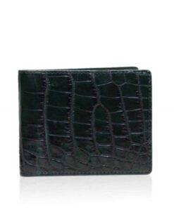Crocodile Belly Leather Wallet , Green