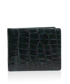 Crocodile Belly Leather Wallet , Green