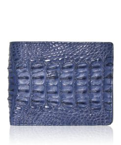 Crocodile Hornback Leather Wallet , Blue