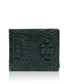 Crocodile Hornback Leather Wallet , Green
