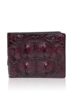 Crocodile Hornback Leather Wallet , Maroon