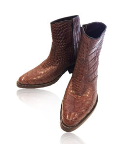 Crocodile Leather Cowboy Boot , Brown