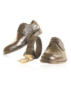 Crocodile Leather Dress Shoes , Black