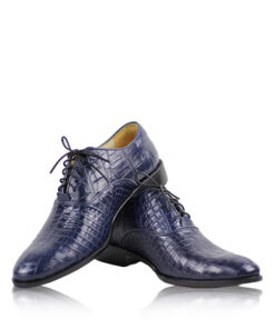Crocodile Leather Dress Shoes , Blue
