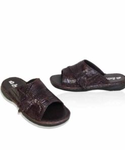 Crocodile Leather Sandal , Brown