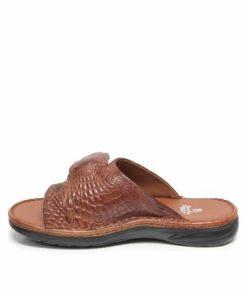Crocodile Leather Sandal , Tan