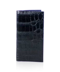 Crocodile Leather Long Wallet , Dark Blue