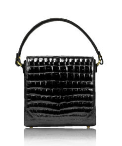 ELSA Crocodile Leather Handbag, Size 15