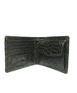 Full Crocodile Leather Wallet , Dark Grey