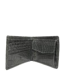Full Crocodile Leather Wallet , Grey