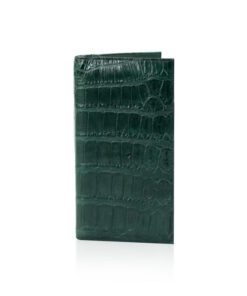 Crocodile Leather Long Wallet , Green