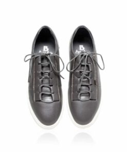 Lamb Leather Lace Up Sneaker , Grey