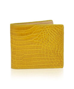 Crocodile Leather Wallet , Mustard