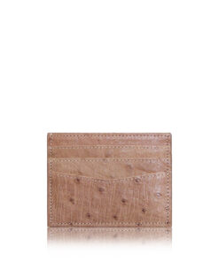 Ostrich Leather Cardholder , 6 Slots