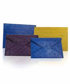Ostrich Leather Envelope Cardholder