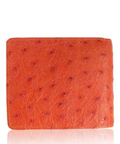 Ostrich Leather Wallet , Orange