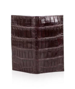 Crocodile Leather Long Wallet , Purple