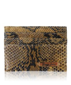 Python Back Leather Cardholder