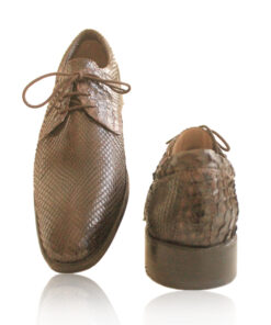 Python Leather Formal Shoes , Brown