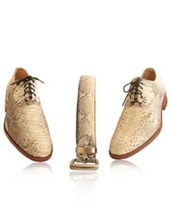 Python Leather Formal Shoes , Natural