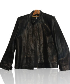 Python Leather Jacket