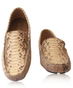 Python Leather Moccasin , Natural
