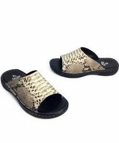 Python Leather Sandal Natural