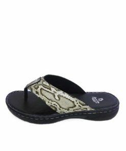 Python Leather Thong Sandal Natural