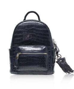 RENNY Crocodile Backpack , Size 21 , Blue