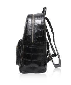 RENNY Crocodile Backpack , Size 34 , Black