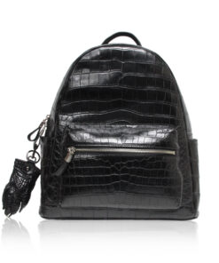 RENNY Crocodile Backpack , Size 34 , Black