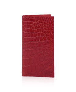 Crocodile Leather Long Wallet , Red