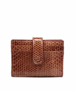 Sea Snake Leather Cardholder , Brown
