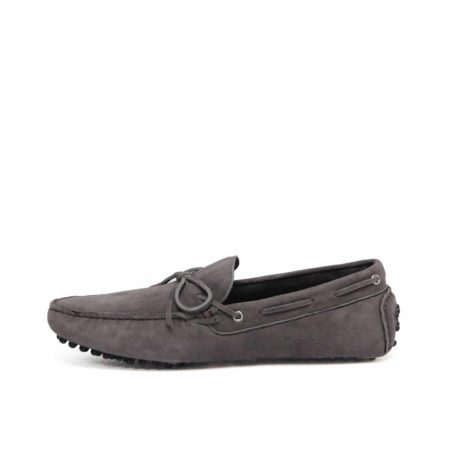 Suede Leather Moccasin , Grey