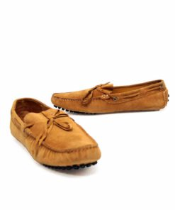 Suede Leather Moccasin , Tan