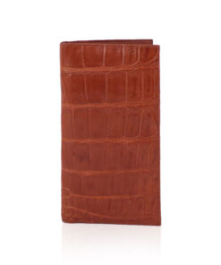 Crocodile Leather Long Wallet , Tan
