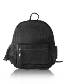 ULTRA Python Leather Backpack , Size 37 , Black