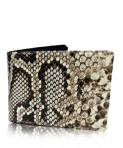 Python Leather Wallet , Natural