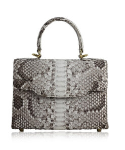 MARYAS Natural Python Leather Handbag, Size 25