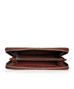 Crocodile Leather Purse, Brown