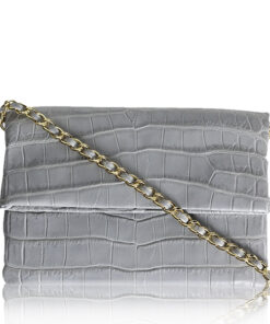 DAISY Crocodile Sling Bag, Grey, Size 28