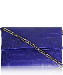 DAISY Crocodile Sling Bag, Purple, Size 28
